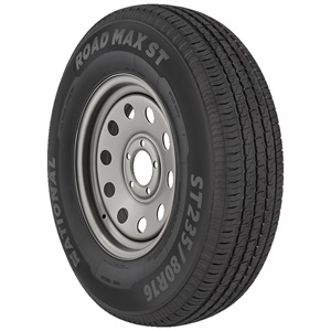 The National Road MAX ST is a trailer tire with higher load ranges designed to provide full market coverage.
