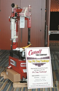 Tim Evans, owner of Evans Tire & Automotive Center Inc. in Smithfield, N.C., won the Coats 70X EH3 tire changer.