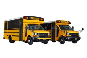 Collins' new NEXBUS design is shown in two prototype versions: high-top and low-top.