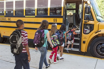 NHTSA's free School Bus Driver In-Service Curriculum is now completely online and mobile-friendly. It also now allows users to choose modules to supplement existing training and customize learning paths.Photo courtesy NHTSA