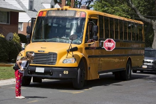 Federal statistics show that more students outside the school bus are killed by the bus itself than by other vehicles. File photo courtesy NHTSA