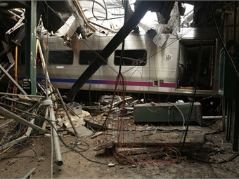 In September, an NJ Transit train crashed into a station, killing one and injuring 100. Chris O'Neill/NTSB