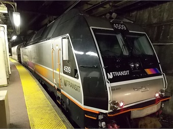 NJ Transit train at Penn Station.