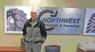 "Willis Gill, owner of Northwest Wholesale and Retreading, says he feels lucky to specialize in unique sizes and products ""so that we can still have a niche market as purely wholesale."" Northwest specializes in giant tires and specialty tires."