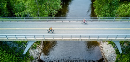 Nokian is the sponsor of the first nighttime Ironman contest in the world — in Finland.