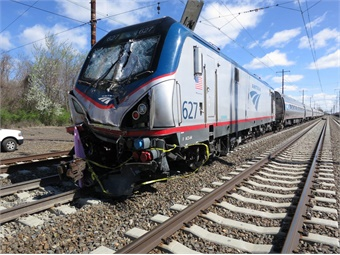 A backhoe operator and a track supervisor were killed, and 39 people were injured, when Amtrak train 89, traveling on the Northeast Corridor from Philadelphia to Washington on track 3, struck a backhoe at about 7:50 a.m. photo via NTSB