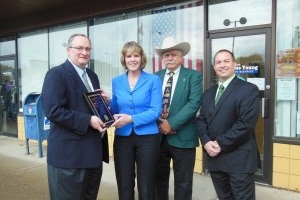 NYAPT presented Sen. Catharine Young (second from left) with a Legislator of the Year award. Also pictured (from left) are Peter Mannella, executive director, NYAPT; Pete James, NYAPT chapter director; and Tony Quaranta, NYAPT legislative chair.