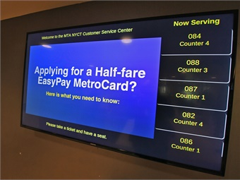 The CSC's interactive On The Go kiosk displays bus and train arrival information, maps, service changes and delays.