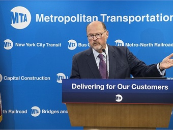MTA Chairman Joseph Lhota (pictured) on July 25, 2017, unveiled the NYC Subway Action Plan. Photo: Metropolitan Transportation Authority / Patrick Cashin
