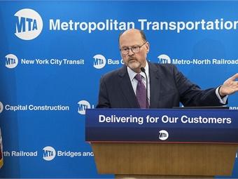 MTA Chairman Joseph Lhota (pictured) on July 25, 2017, unveiled the NYC Subway Action Plan. Photo: Metropolitan Transportation Authority / Patrick Cashin