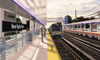 Rendering of the renewed Hyde Park Station. MTA