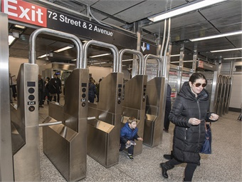 MTA users will be able to use a mobile wallet like Apple Pay or tap a contactless bank card at turnstiles and on buses across the city. Photo: MetropolitanTransportationAuthority-PatrickCashin