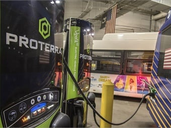 MTA will test 10 new buses by Proterra and New Flyer with the hope of ordering an additional 60 all-electric buses. Photo: N.Y. MTA