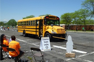 The 43rd Annual New York State School Bus Safety Competition included loading and unloading students, vehicle inspection, turning and stopping, and railroad crossings.