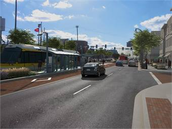 Rendering of BRT corridor courtesy Metropolitan Government of Nashville and Davidson County, Tenn.