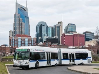 Nashville Metropolitan Transit Authority (MTA) has selected INIT Innovations in Transportation Inc. for the design, delivery and installation of their Next Generation Fare System. Photo: Nashville MTA