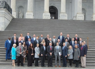Members of the National School Transportation Association are gathering at the nation's capital to meet with federal legislators for its annual Capitol Hill Bus-In. Shown here is the group that attended the Bus-In in 2018.