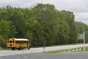 School buses make the rounds at Navistar's new proving grounds