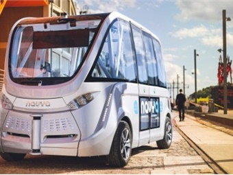 Navya driverless shuttle.