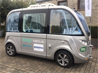 The NAVYA autonomous electric shuttle can accommodate up to 15 passengers, including those with reduced mobility, with a dedicated area for wheelchairs.Keolis