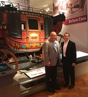 """Network members including David Prater and David Segal enjoyed a private reception and dinner at the Henry Ford Museum of American Innovation. """"Visiting the museum really allowed everyone to realize the depth of our industry's history, as well as other interesting breakthroughs in American invention,"""" says Segal."""