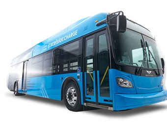 New Flyer CHARGE buses are part of NY MTA electric bus testing and evaluation program. Photo: New Flyer