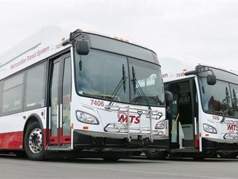 The New Flyer buses will nearly double the number of passengers carried to about 100, allowing the agency provide extra seating and more comfortable rides.