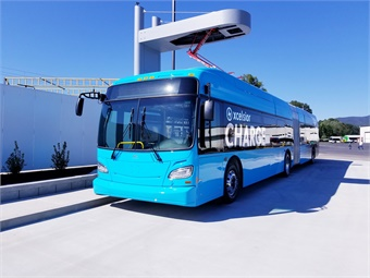 New Flyer's 60-foot CHARGE electric bus. Photo: New Flyer