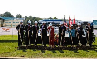 New Flyer of America Inc. broke ground on a $25 million building renovation and expansion project in Anniston, Ala. Photo: New Flyer