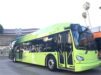 The buses are equipped with 480 KW of stored energy and will be charged through individual depot chargers at MTS' operating facility.