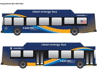 Rendering of New Flyer electric bus