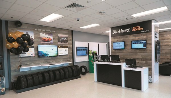 The DieHard Auto Center stores feature a clean, modern look, and offer consumers free WiFi access. The store in Detroit, Mich., is pictured.