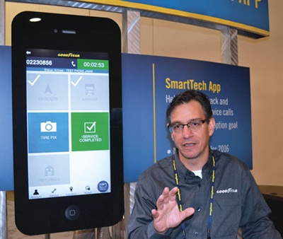 """""""The adoption of the Goodyear Smart Tech App by commercial dealers has been faster than expected,"""" said Jose Martinez, business solutions manager. The app will become a requirement for the Commercial Tire & Service Network."""