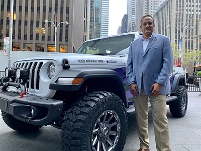 Combat-Wounded Army Master Sgt. (Ret.) Brian Porter received the Nexen Hero 2020 Jeep Gladiator Sport S live on the Fox and Friends mroning news show on Aug. 7.