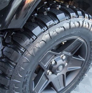 Nexen says F load range on all flotation sizes and maximum air pressure of 80 PSI gives the Roadian MTX Mud Terrain Xtreme increased towing capacity. The tire also has a higher load capacity and functioning TPMS sensors.