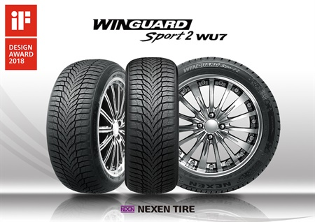 Nexen's Winguard Sport 2 tire stood out among the 6,400 products from 54 countries that were submitted to the international iF Design competition.