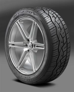 Designed as a successor to the NT420S series of tires, the Nitto NT420V offers all-season performance with a unique non-directional asymmetric tread pattern and LT-metric sizing.
