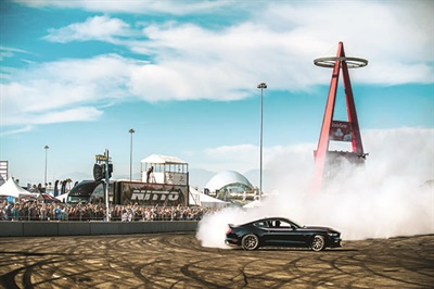 With the help of a Mustang RTR, Nitto treated its fans to a drifting demonstration on Auto Enthusiast Day in Anaheim, Calif.