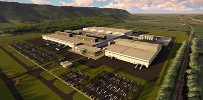 This rendering shows the Dayton, Tennessee, site where Nokian will build its first factory dedicated to the North American market.