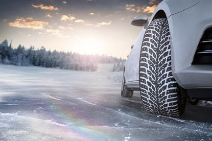 The Hakkapeliitta 9 from Nokian features two kinds of studs to handle varying driving conditions.