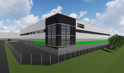 This rendering shows the future research and development center for Nokian's heavy commercial tires.