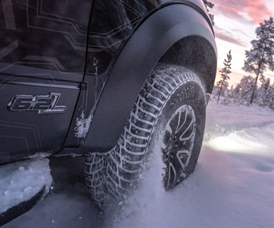 Nokian says the new Hakkapeliitta LT3 has the world's first stainless steel studs to ensure maximum durability due to resisting corrosion from salty roads.