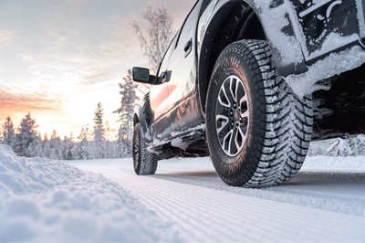 Nokian says the Hakkapeliitta LT3 features the world's first stainless steel studs, which minimize corrosion from salt, the company adds.