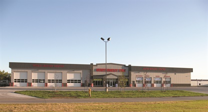 Eight of Northwest Tire's 17 stores offer commercial services, including this location in Grand Forks, N.D. The company's most popular truck tire brands are Bridgestone, Firestone, Toyo, Sumitomo and Yokohama.