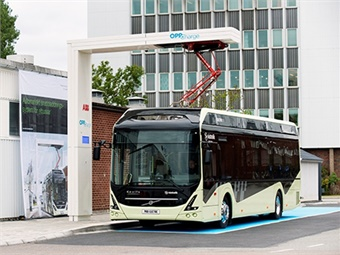Nova Bus using ABB fast charger system.