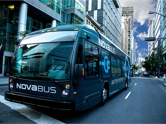 With a total battery capacity of 594 kWh, Nova Bus's LFSe+ has a range that runs between 211 and 292 miles before needing a charge, depending on power demands and operating conditions.Nova Bus
