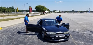 A drift car, sponsored by Sailun, was on hand to give attendees a fun ride while also showing off the capabilities of Sailun's Atrezzo UHP tire.