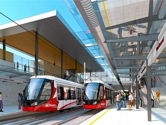 The Confederation Line runs about eight miles and connects Ottawa's Tunney's Pasture and Blair Stations.City of Ottawa