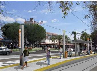Rending of the OC Streetcar project. Image: Orange County Transportation Authority