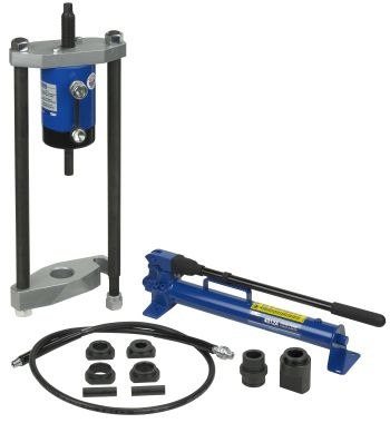 OTC's 30-Ton King Pin Pusher Set assists technicians when changing king pins and brake anchor pins on heavy-duty vehicles.
